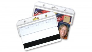 Half-Card Magnetic Stripe Badge Holders – Pack of 50