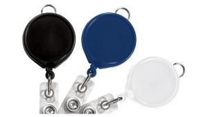 Round Badge Reels with Lanyard Loop- Pack of 25