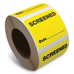"Extra-small Yellow ""Screened"" Sticker"
