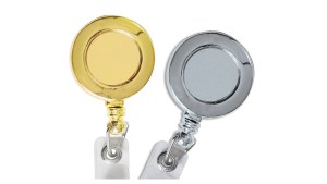Metallic Round Badge Reel - Pack of 25