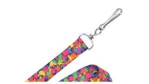 "Pre-printed 3/4"" Paint Splatter Lanyards – Pack of 100"
