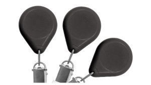 Premium No-Twist Badge Reels With Card Clamp - Pack of 25