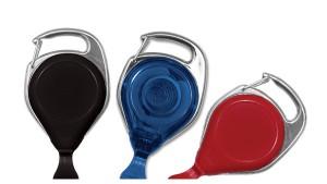 No-Twist Carabiner Badge Reels With Card Hook - Pack of 25