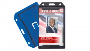Rigid Badge Holders with Rear Card Pocket – Pack of 50