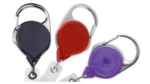 Premium No-Twist Carabiner Badge Reels - Pack of 25