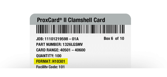 Learn about Proximity Card Formats, Facility Codes and Range Numbers