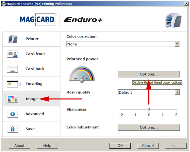 How To Adjust The Print Head Power On A Magicard Enduro Printer