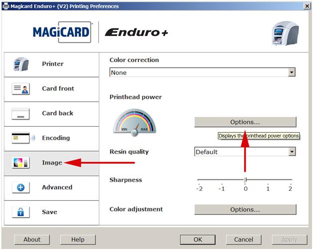 How To Adjust The Print Head Power On A Magicard Enduro Printer