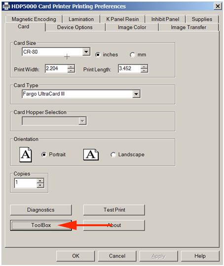 Calibrate HDP5000 1