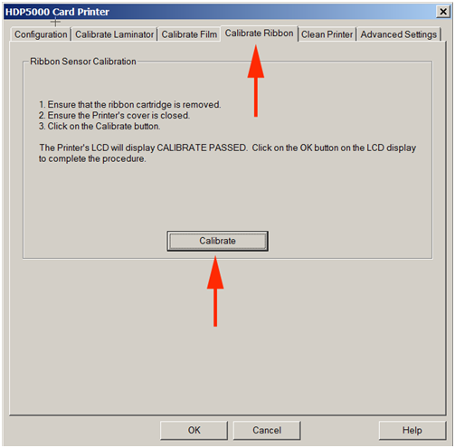 Calibrate HDP5000 2