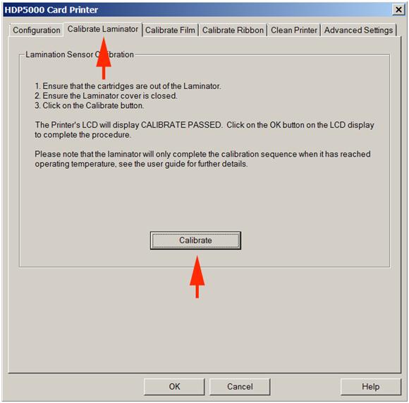 Calibrate Lamination HDP5000 2