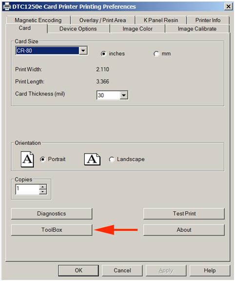 Calibrate Ribbon DTC1250e 1