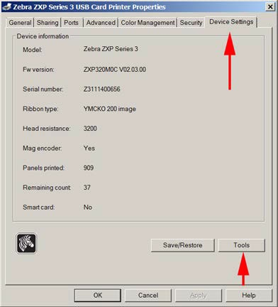 Guide to updating the firmware on a Zebra ZXP Series 3 ID card