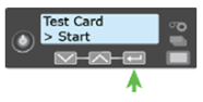 How to run a printer self test on a Datacard SD260 printer from