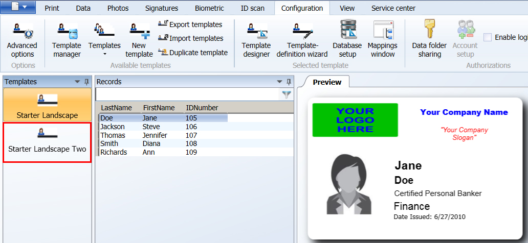 How To Duplicate An ID Template Design In AlphaCard ID Suite From